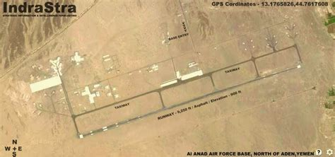 Saudi offensive at Al Anad Air Force Base, Yemen by