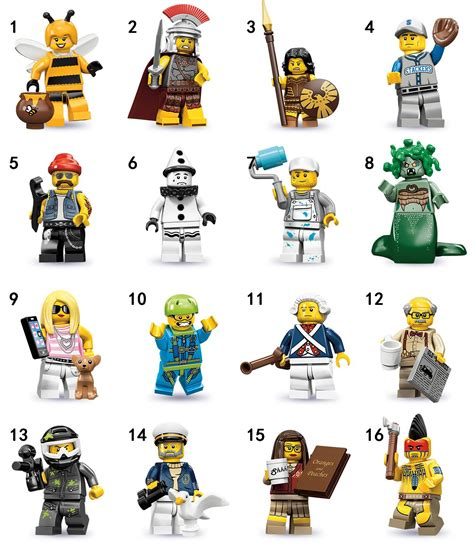 NEW LEGO 71001 Complete Set of 16 MINIFIGURE S SERIES 10