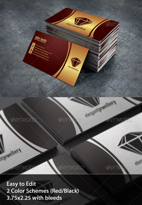 Jewelry Business Card Set by ObjectIdeas | GraphicRiver