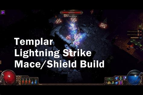 Path of Exile Lightning Strike Templar Build (Mace/Shield
