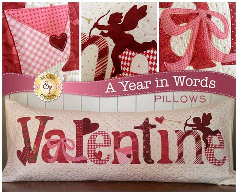 A Year in Words Pillow Pattern - Valentine