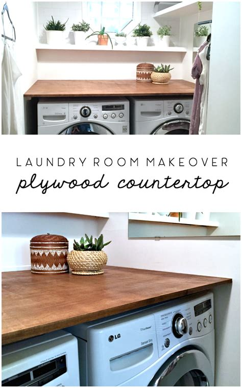 Laundry Room Makeover: DIY Plywood Countertop • Ugly