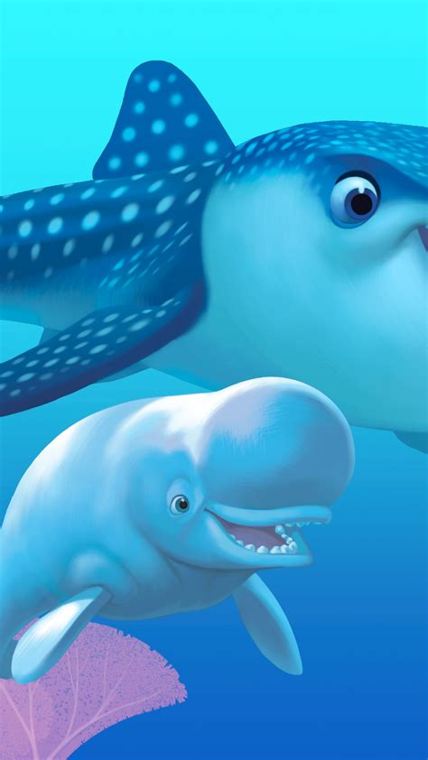 Wallpaper Finding Dory, nemo, shark, fish, Pixar