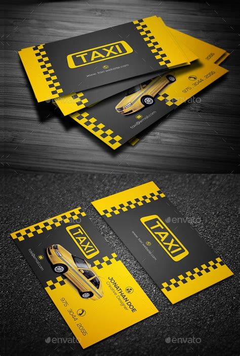 13+ Taxi Business Card Templates - AI, Pages, Word | Free