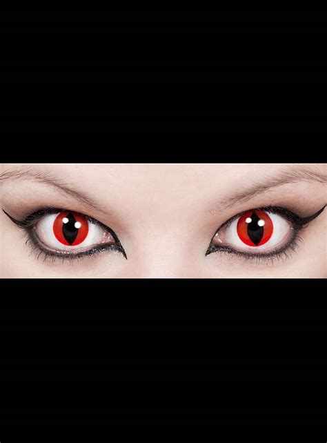 Cat Eye Red Special Effect Contact Lens - maskworld