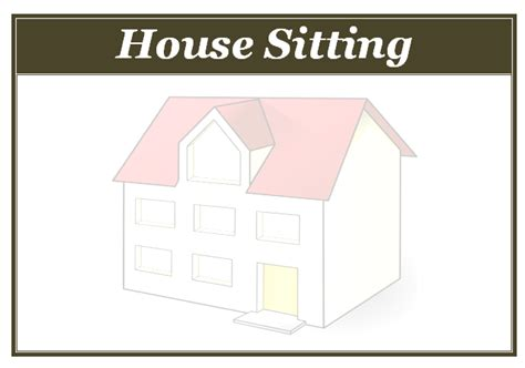 House Sitting Flyer Template