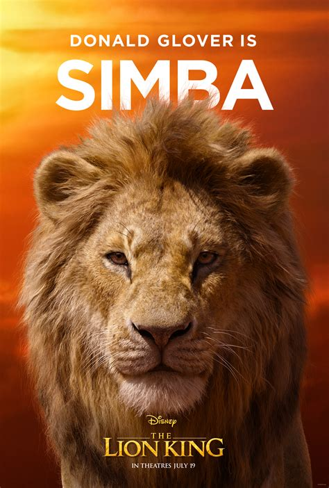 Character Posters & TV Spot For Disney's The Lion King