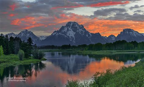 Oxbow Bend Sunset at Grand Teton National Park, Wyoming