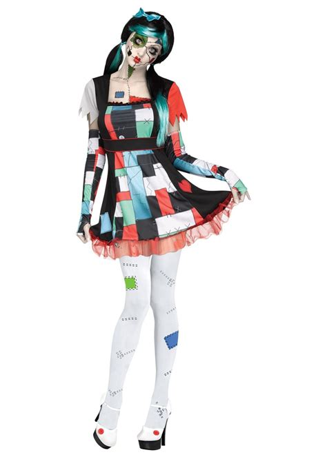 Edgy Rag Doll Women Costume - Scary Costumes