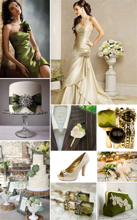 Champagne and Olive Green Weddings