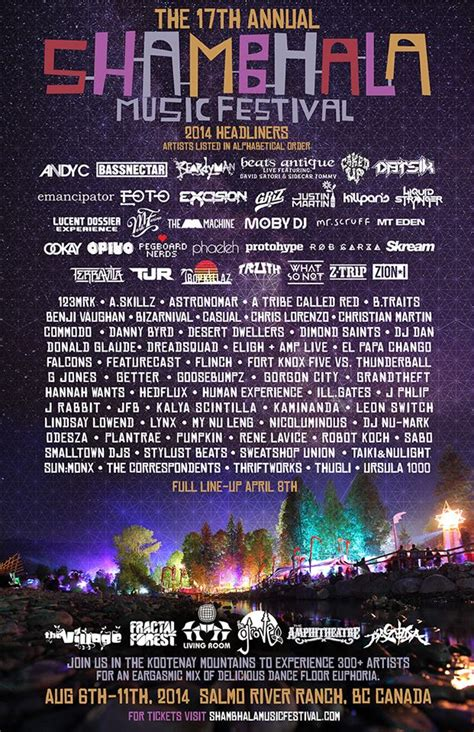 Shambhala 2014 Lineup Announced | Run The Trap