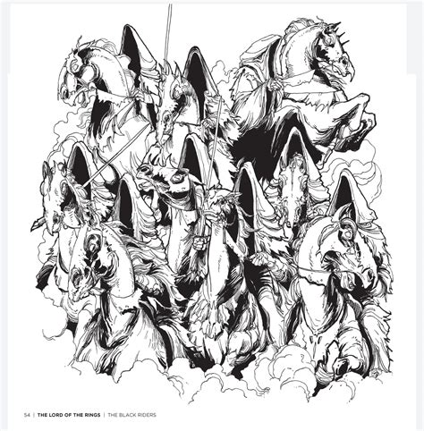 Tolkien's World: A Colouring Book Free Pattern Download
