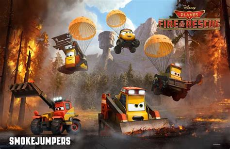 Disney shows off new characters from Planes: Fire & Rescue