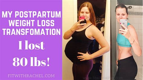 Postpartum Weight Loss Before and After--Woman's Weight