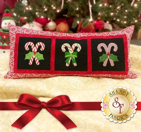 Candy Cane Bench Pillow Pattern | Shabby Fabrics