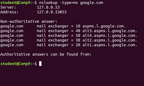 nslookup command in Linux with Examples - Tutorialspoint