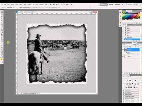 Burnt Edge Effect in Photoshop CS5 - YouTube
