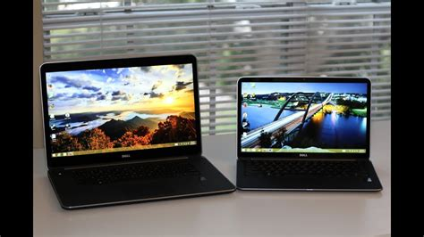 Dell XPS 13 vs Dell XPS 15 Haswell 2014 - YouTube