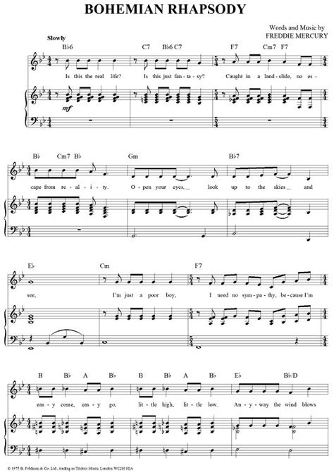 Bohemian Rhapsody | Piano music, Violin sheet music, Piano