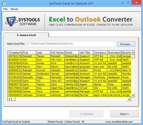 Excel to Outlook Converter to Convert Contacts from XLS to