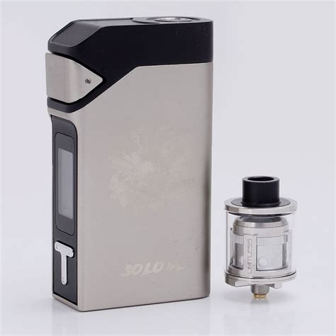 Authentic IJOY SOLO V2 200W TC Silver MOD + Limitless Sub